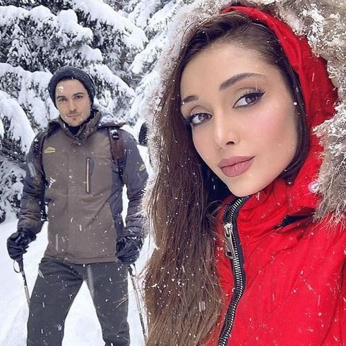الناز گلرخ و همسرش