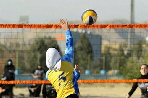 ابعاد زمین والیبال ساحلی