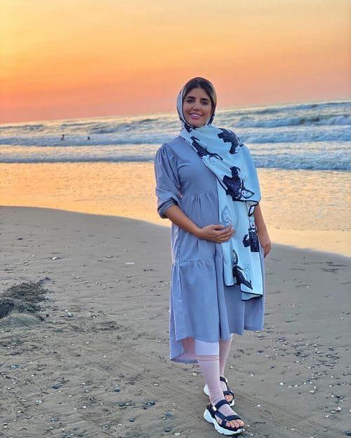 نگین عابدزاده قبل از عمل بینی