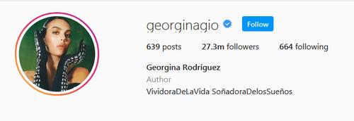 آدرس اینستاگرام جورجینا رودریگز چیست؟